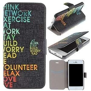 ZXM-Vida modelo de las citas de la cubierta de cuero de la PU caso de cuerpo completo con ranura de la tarjeta para el iphone 5/5s