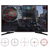 eXtremeRate® FastScope No Scope TV Decal for FPS Games on PS4 PS3 Xbox One Xbox 360 PC (10pcs in 2 Size 5 Designs)
