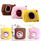 eon ticket - Pet Hanging House Hammock Small Animals Cotton Hamster Cage Sleeping Nest Pet Bed Cage for Parrot Rat (S, Yellow)