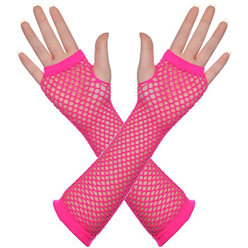 BABEYOND 80s Outfit Costume Accessories Neon Earrings Fishnet Gloves Leg Warmers Headband Bracelets (Set 7) by BABEYOND (Image #5)'
