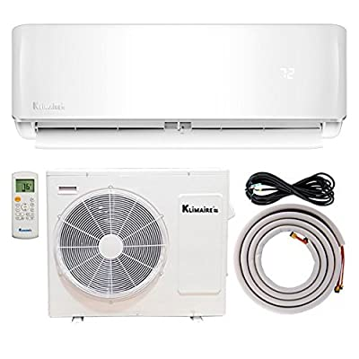 Klimaire Ductless Mini-Split Inverter Air Conditioner Heat Pump With 15 ft Installation Kit