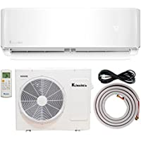 12,000 BTU Klimaire 21.5 SEER Ductless Mini-Split Inverter Air Conditioner Heat Pump System With 13 ft Installation Kit (115 Volt) Wi-Fi Ready