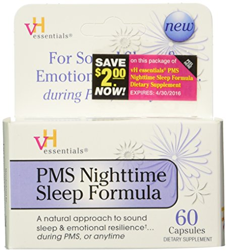 vH essentials PMS Nighttime Sleep Formula Supplement, 60 Count