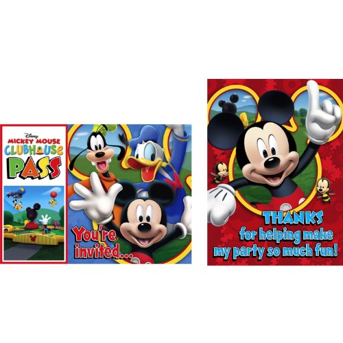 Mickey Mouse 'Playtime' Invitations and Thank You Notes w/Envelopes (8ct ea.)