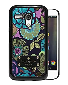 Unique Designed Kate Spade Cover Case For Motorola Moto G Black Phone Case 190