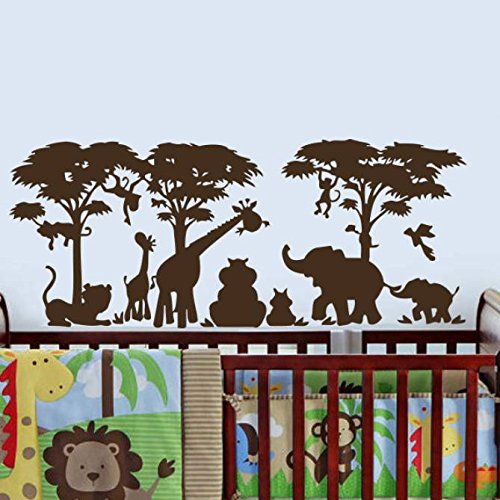 Safari Wall Decal Vinyl Stickers Decals Home Decor Animal Wall Vinyl Decal African Safari Kids Children Nursery Decor Jungle Bedroom NS977