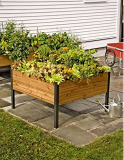 4 Ft X 4Ft Elevated Cedar Planter Box