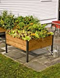 Gardener's Supply Company 4 Ft x 4Ft Elevated Cedar Planter Box For Sale