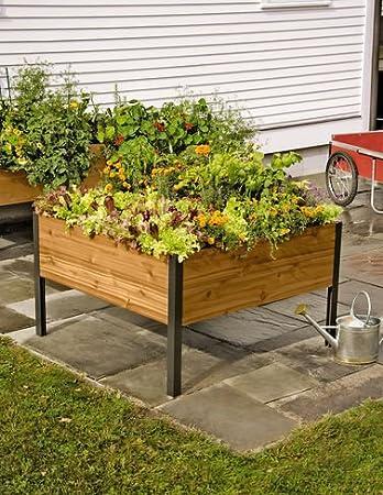 4 Ft X 4Ft Elevated Cedar Planter Box