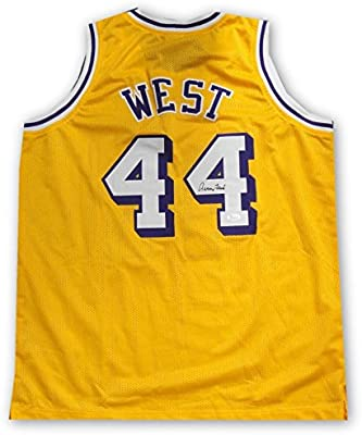 a72bf00975d Jerry West Hand Signed Autographed  44 Yellow Jersey Los Angeles Lakers JSA