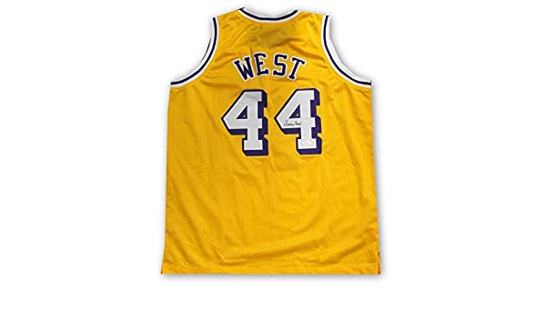 79bd4033261 Jerry West Hand Signed Autographed  44 Yellow Jersey Los Angeles Lakers JSA  at Amazon s Sports Collectibles Store