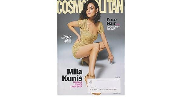 Cosmopolitan August 2018 Mila Kunis Funny & Foxier Than Ever