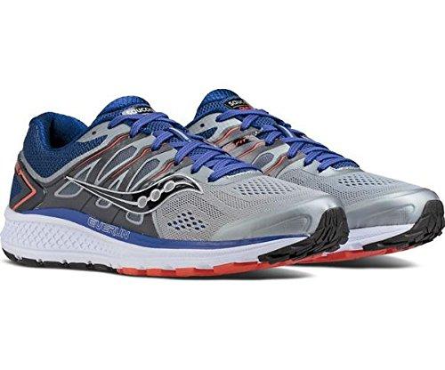 Saucony Men's Omni 16 Running Shoe, Grey Navy, 11 M US