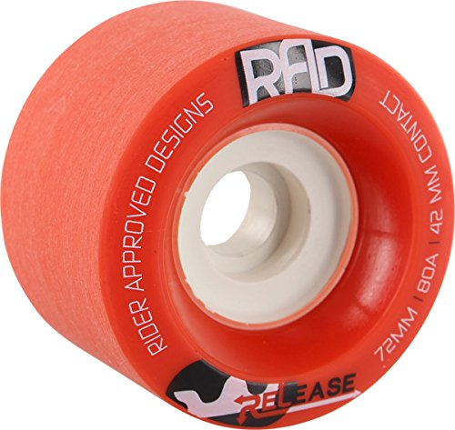 家畜吹雪長老Rad Release 72mm 80a Red/White Skateboard Wheels (Set Of 4) by Rad.