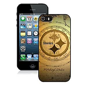 iPhone 5s Pittsburgh Steelers(1) Black Screen Cover Case Fashion and Durable Design