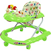 Goyal's Cartoon Baby Walker - Music & Rattles with Adjustable Height (Green)