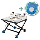 Rockler Convertible Benchtop Router Table with Insert Plate Kit for Mid-Size Routers