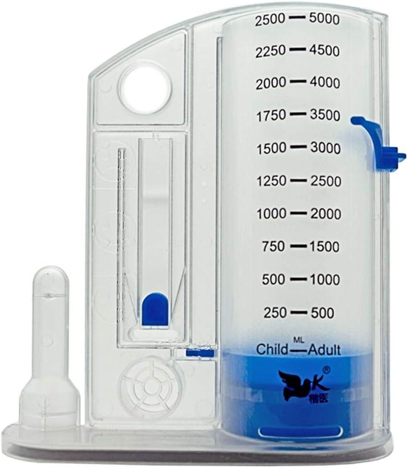 LLQ Espirómetro, Ejercitador respiratorio de Nuevo diseño, Entrenador de espirometría en niños y Adultos con función pulmonar