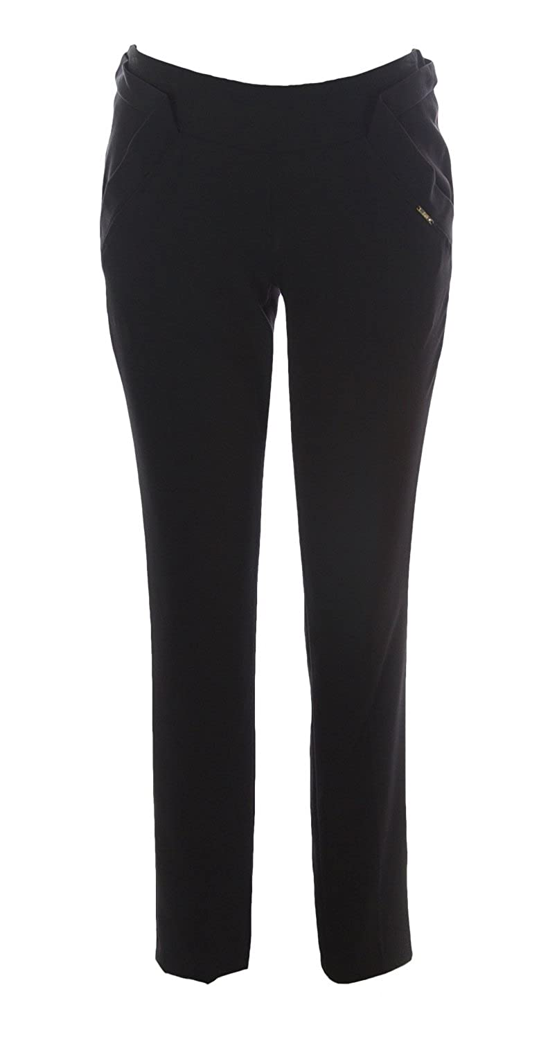 KITTE Women's Back Zipper Pants w/ Pockets IT 42 Black