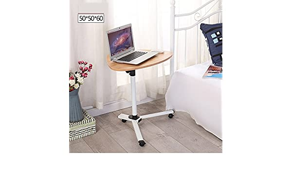 Zbzz Rolling Table Laptop Desk Escritorio extraíble con Soporte ...