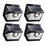 LITOM 30 LED Solar Motion Sensor Lights, IP65 Waterproof Solar Lights Outdoor with 3 Lighting Modes, 270° Wide-Angle Illumination Solar Lights for Front Door, Yard, Garage, Pathway and Patio-4 Pack For Sale