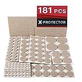 X-PROTECTOR Premium ULTRA LARGE Pack Furniture Pads 181 piece! Felt Pads Furniture Feet