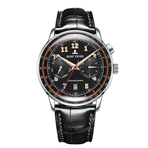 ساعت مچی مردانه ریف تایگر مدل RGA9122-YBBO با بند چرمی