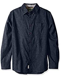Woolrich mens Mainroad Eco Rich Modern Fit Long Sleeve Shirt