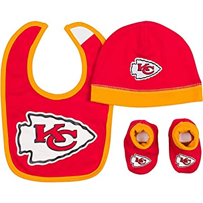Gerber Baby Boys Kansas City Chiefs Hat/cap,bootie and Bib Set