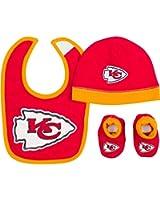 Gerber Baby Boys Kansas City Chiefs Hat/cap,bootie and Bib Set