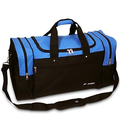 Everest Luggage Sports Travel Gear Bag, Royal Blue / Black Medium by Everst