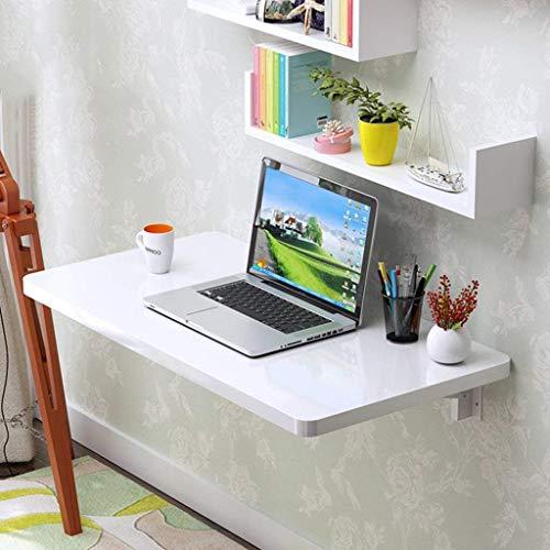 Mesa plegable Tabla de pared Mesa plegable Mesa de comedor bajar el tablero del escritorio del ordenador Aprendizaje estacion de trabajo a domicilio escritorio blanco blanco (Tamano, 90 * 40 cm), 100