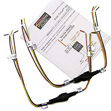 amazon com: solar circuits led turn signal wiring circuits - converts 2-wire  led to 3 for running light and turn signals (pair): automotive