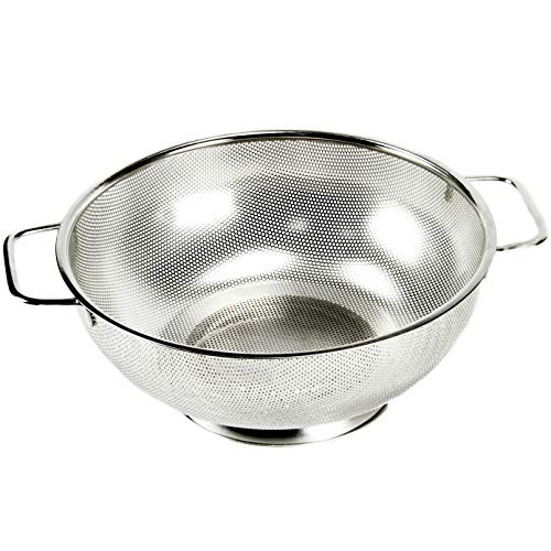 Chef Craft Microperforated Stainless Steel Colander, 5 quart, Silver