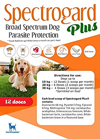 Spectrogard Plus - Broad Spectrum Flea, Tick and Worm Treatment (Dog Flea Heartworm)