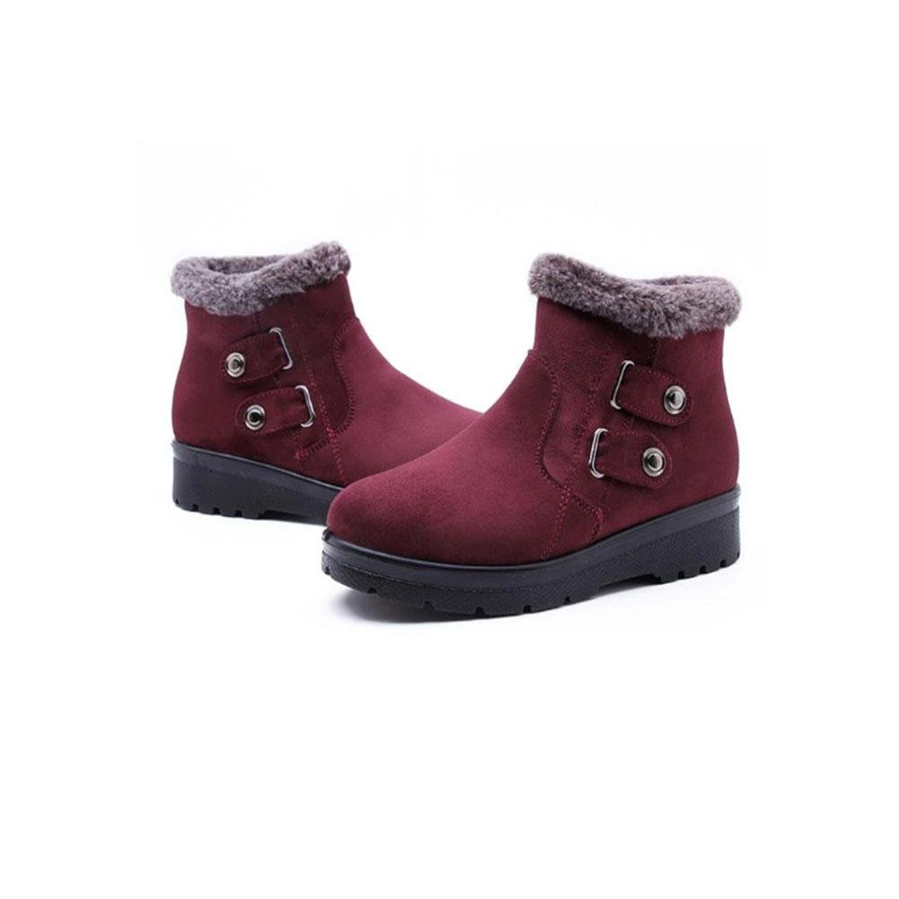 Stivali Stivali Stivali caldi Indumento caldo traspirante Scarpe da trekking da donna invernali , Crimson , 41 28b4d8