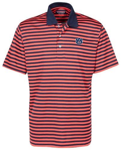 (NCAA Auburn Tigers Men's Bar Stripe Golf Polo Shirt, Classic Navy/Sunkissed, XX-Large)