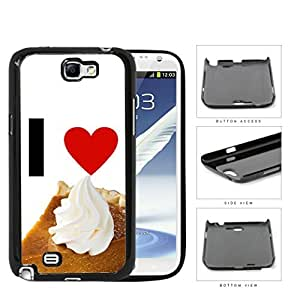 I Heart Pie Hard Plastic Snap On Cell Phone Case Samsung Galaxy Note 2 II N7100