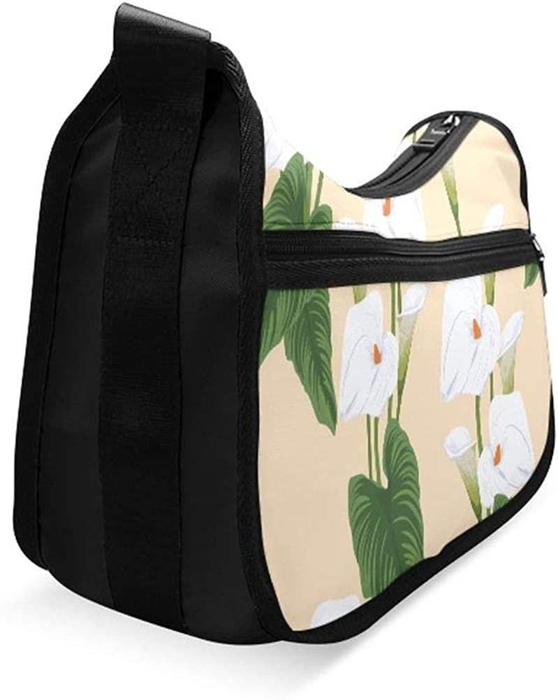 Beautiful Bouquet Of Calla Lilies Messenger Bag Crossbody Bag Large Durable Shoulder School Or Business Bag Oxford Fabric For Mens Womens