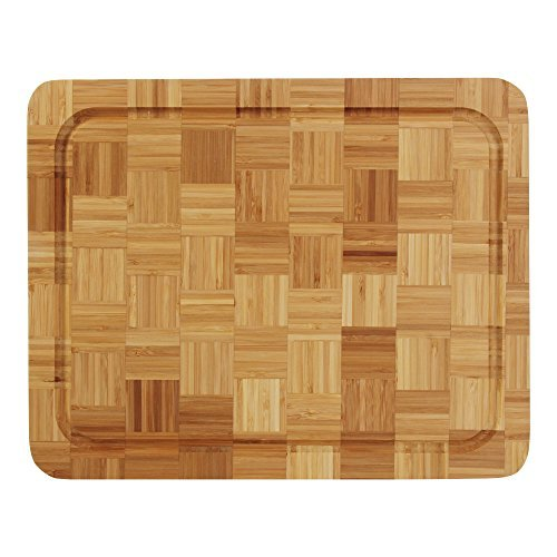 WALLOP Carbonized Bamboo Cutting Board 13.6'' Large size Wood Chopping Block with Drip Groove professional restaurant