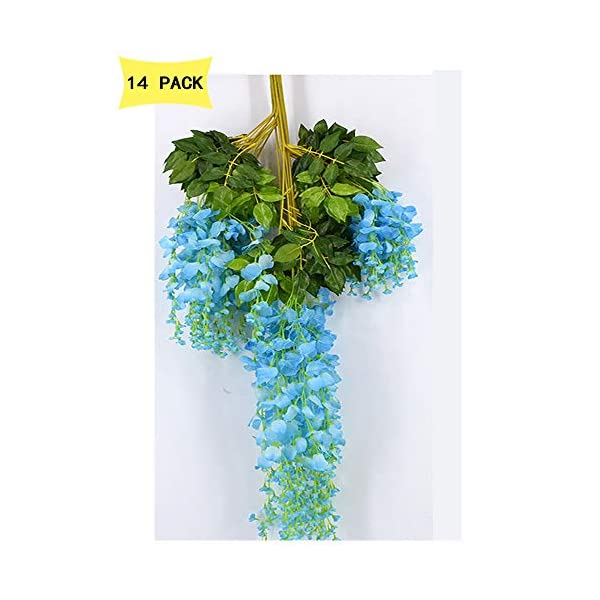 14-Pack-36-FeetPiece-Artificial-Silk-Wisteria-Vine-Ratta-Hanging-Flowers-Party-Wedding-Decor