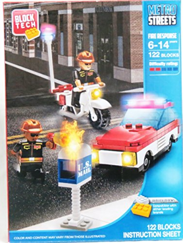 - Block Tech Metro Streets Fire Response 122 Blocks Compatible with Lego