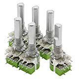 Nxtop 6 Piece Stereo B50K 50K Ohm Dual Linear Taper Volume Control Potentiometer Switch