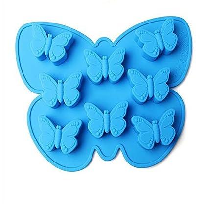 Molde de hielo con forma de mariposa para magdalenas, moldes de jabón, galletas,