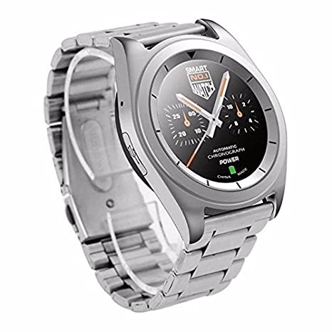 Amazon.com: Smartwatch WristWatch Fitness Tracker Pedometer Bluetooth For IOS Android Men - Silver Steel, Language Pack C: Cell Phones & Accessories