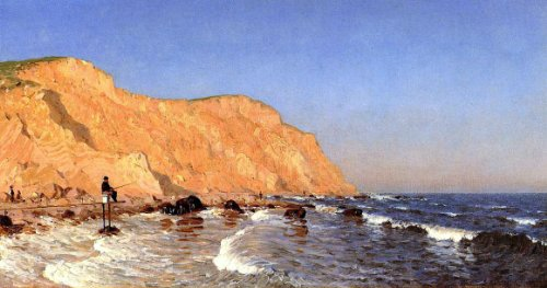 Sanford Robinson Gifford Clay Bluffs on No Man's Land - 15.05