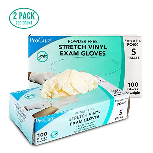 Powder Disposable Vinyl Gloves Small
