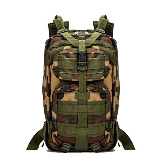 Fulltime (TM)–�?5.7l Militar bolsa de deportes senderismo Camping mochila ejército Militar Táctico senderismo mochila, hombre mujer Infantil, H, 43 x 23x 26cm G