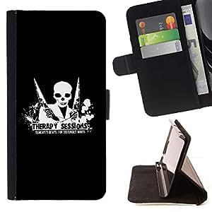 For Sony Xperia Z3 Compact / Z3 Mini (Not Z3) Case , Terapia Sesión Demented Beats- la tarjeta de Crédito Slots PU Funda de cuero Monedero caso cubierta de piel