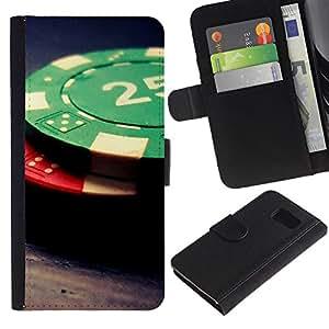 Stuss Case / Funda Carcasa PU de Cuero - Fichas de póquer - Samsung Galaxy S6